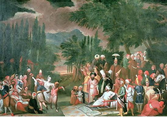 Hunting_Party_with_the_Sultan_Jean_Baptiste_Vanmour_18th_century